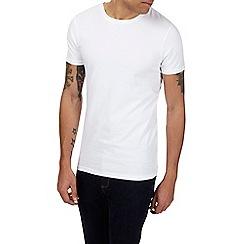Burton - 3 pack white, grey and berry basic t-shirts