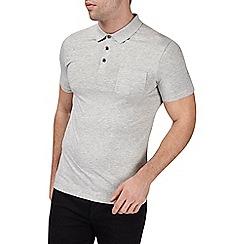 Burton - Grey muscle fit polo shirt
