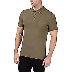 Burton - Khaki muscle fit polo shirt