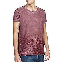 Burton - Burgundy floral hem t-shirt