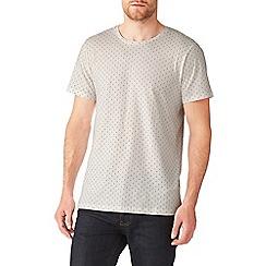 Burton - Ecru all over mini print t-shirt