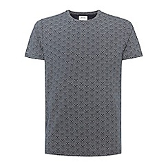 Burton - Navy all over print t-shirt