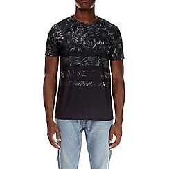 Burton - Black stripe floral print t-shirt