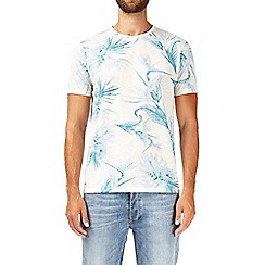 Burton - Ecru and blue floral print t-shirt