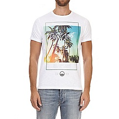 Burton - White 'Pacific Coast' print t-shirt