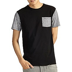 Burton - Black printed pocket t-shirt