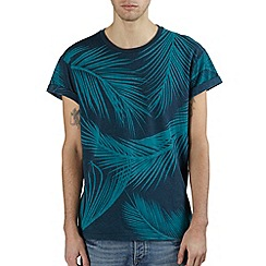 Burton - Blue leaf print t-shirt