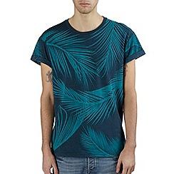 Burton - Blue leaf print t-shirt