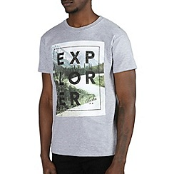 Burton - Grey explorer printed t-shirt