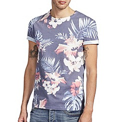 Burton - Blue all over floral print t-shirt