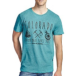 Burton - Green colorado print t-shirt