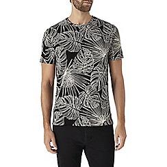Burton - Black plant print t-shirt