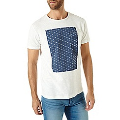 Burton - Cream box print t-shirt