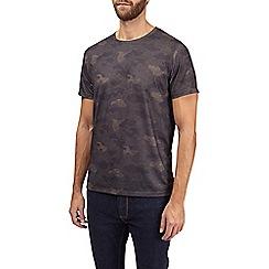 Burton - Khaki camouflage print t-shirt