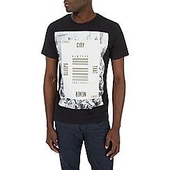 Burton - Black new york print t-shirt