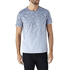 Burton - Light blue leaf print t-shirt