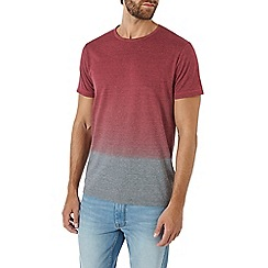 Burton - Red and grey dip dye t-shirt