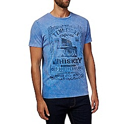Burton - Blue whiskey print t-shirt
