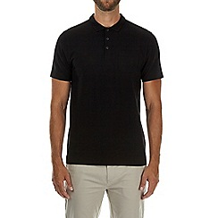 Burton - Black stretch polo shirt