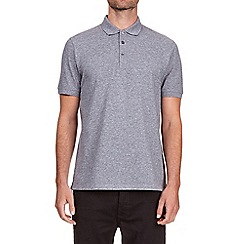 Burton - Grey jaspe polo shirt