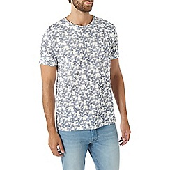 Burton - Ecru palm print t-shirt