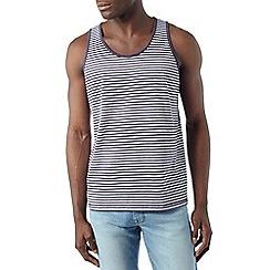 Burton - Navy and white stripe vest