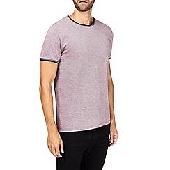 Burton - Burgundy tipped t-shirt