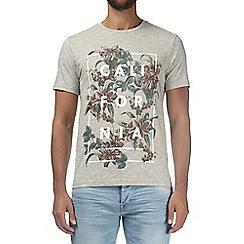 Burton - Grey floral 'California' print t-shirt