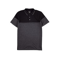 Burton - Black cut and sew polo shirt