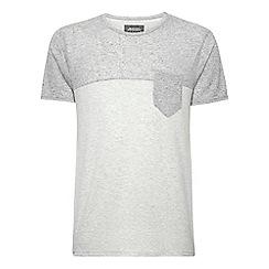 Burton - Grey & ecru contrast yoke t-shirt