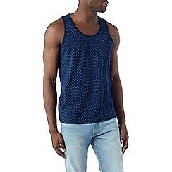 Burton - Navy geo print vest