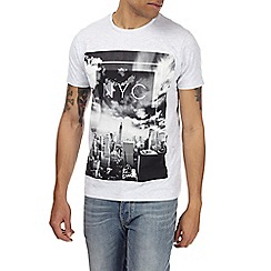 Burton - Frost grey monochrome NYC print t-shirt