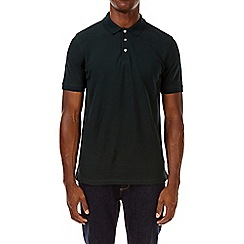 Burton - Emerald green tipped polo shirt