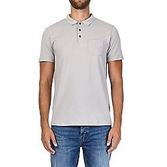 Burton - Grey stretch polo shirt