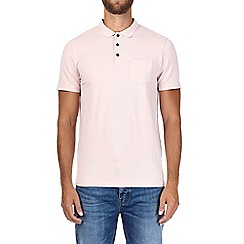 Burton - Pink muscle fit polo shirt