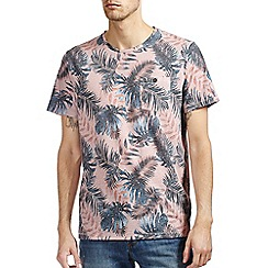 Burton - Pink floral all over print t-shirt