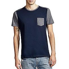 Burton - Navy & grey pocket t-shirt