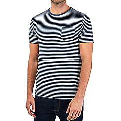 Burton - Navy short sleeve striped t-shirt