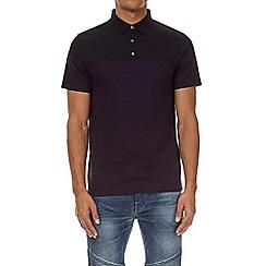 Burton - Black and purple colour block polo shirt
