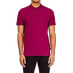 Burton - Magenta pink polo shirt with stretch
