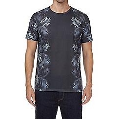Burton - Black floral side print t-shirt
