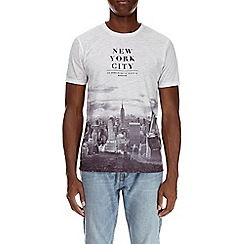 Burton - White new york print t-shirt