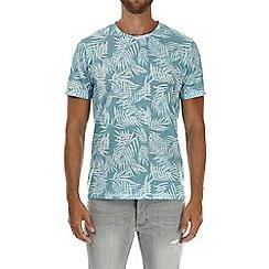 Burton - Mint all over leaf print t-shirt