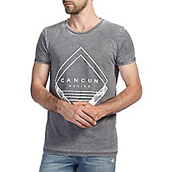 Burton - Grey cancun burnout printed t-shirt