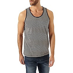 Burton - Grey and charcoal stripe vest