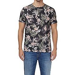 Burton - Black all over floral print t-shirt