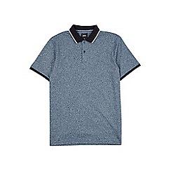 Burton - Petrol blue grindle tipped polo shirt