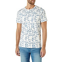Burton - Cream bamboo print t-shirt