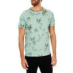 Burton - Green floral print t-shirt