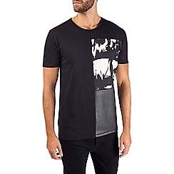Burton - Black panel print t-shirt